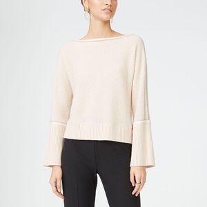 CLUB MONACO Cashmere Boat Neck Sweater Blush S